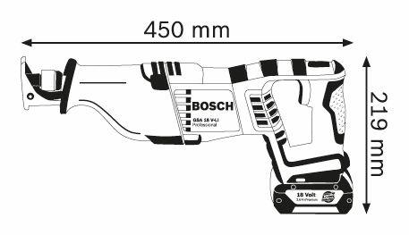 Bosch GSA18V-32, Bajonetsav, Akku