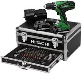 Hitachi DS18DJL m/kuffert og værktøj, Boreskruemaskine