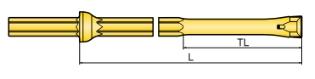 Helstangsbor, Ø17x210 mm, u/integreret mejsel