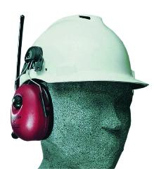Høreværn, m/radio, t/sikkerhedshjelm