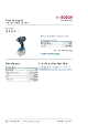 Produktdatablad, Bosch GDR18V-L