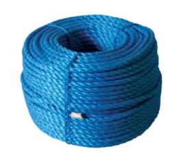Polyreb, Blå, 3-slået, 16 mm