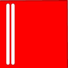 Rød refleks til afspærringscylinder