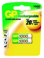 R03/AAA-batterier, Genopladelige, 2-pak