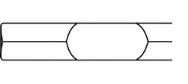 Fladmejsel, Hex28, 32x500 mm