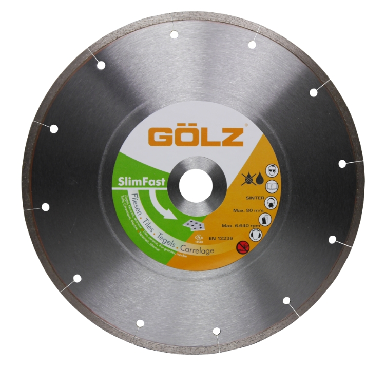 Gölz Slimfast, Ø180x25,4 mm, Diamantskive