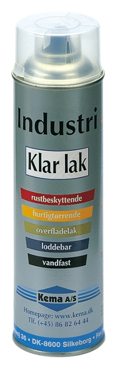 Kema RAL Industrilak, Klar lak, Spray, 500 ml