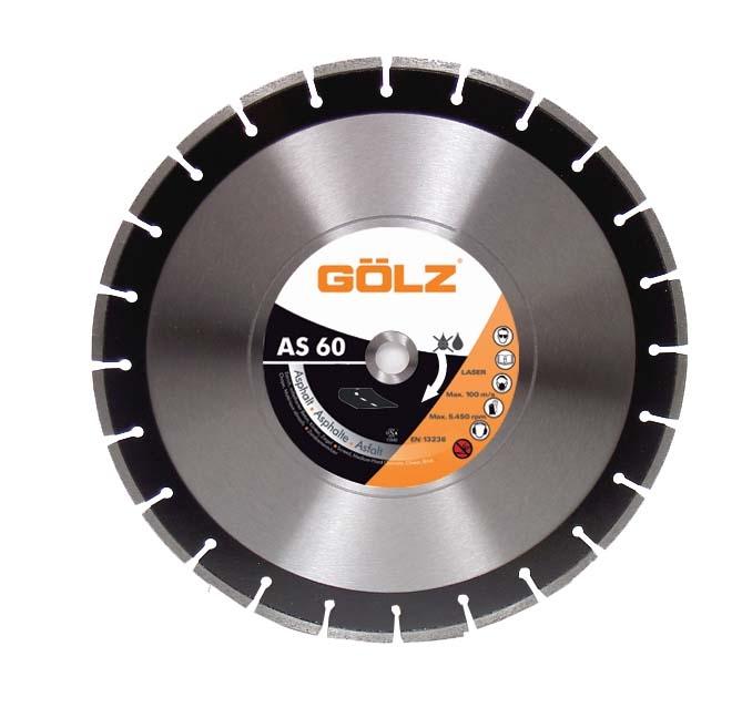 Gölz AS 60, Ø350x25,4 mm, Diamantskive