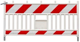 Afspærringsgitter, Venstre visning, 200x100 cm
